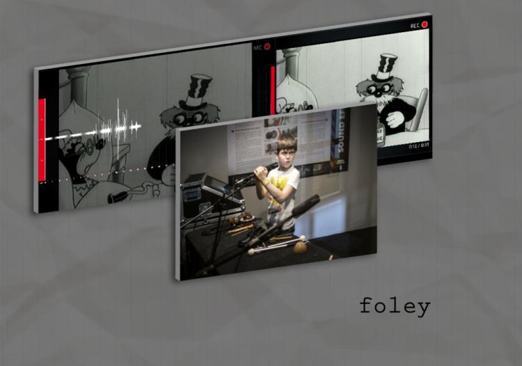 """""""Aha, Behind the Scenes!"""" exhibition Foley exhibit"""