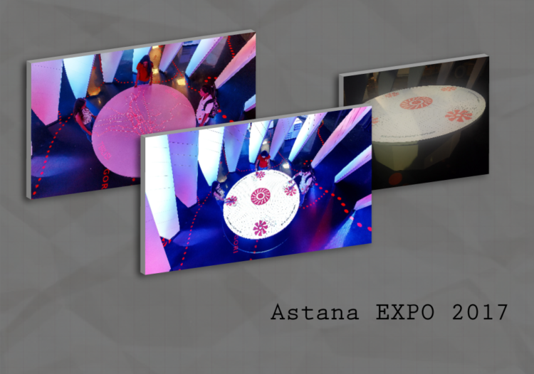 Astana 2017 Expo Georgian pavilion kinect-based game