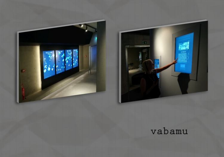 Multimedia applications in Vabamu, Museum of Occupations and Freedom