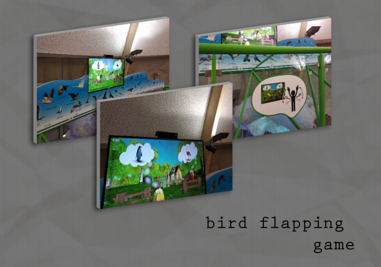 Kinect-põhine linnulehvitusmäng Ahhaa Teaduskeskuses